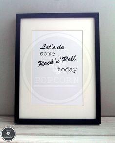 Kunstdruck  | Rock 'n' Roll BLANK von Pens N' Popcorn auf DaWanda.com