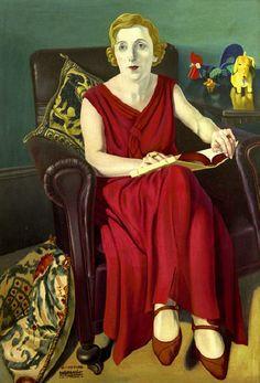Retrato da Sra.Vighi, 1930-1936 Cagnaccio di San Pietro Cognome de NatalinoBentivoglio Scarpa, (Itália, 1897-1946) óleo sobre madeira, 103 x 72 cm Coleção Particular