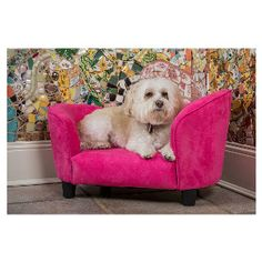 Pet Bed Lounger ~ Pink