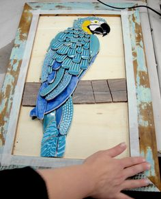 Mosaic dog by Solange Piffer Mosaic Animals, Mosaic Birds, Mosaic Wall Art, Tile Art, Mosaic Glass, Mosaic Crafts, Mosaic Projects, Stained Glass Projects, Vitromosaico Ideas