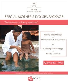 Evaco Holidays - Mother's Day is around the corner... Treat your mum to a luxury spa day. Tel: 263 0172