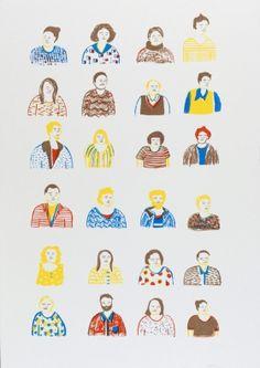 Gravures & Estampes | Encore Super | Les portraits | Tirage d'art en série limitée sur L'oeil ouvert Street Art, Art Graphique, Portraits, Pitt, Snoopy, Comics, Artwork, Fictional Characters, Image