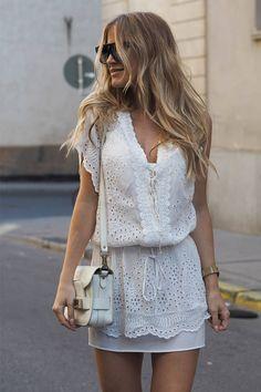 WHITE SUMMER DRESS #SexyLook VESTIDO BLANCO DE VERANO