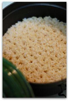 「マクロビオティック・ストウブ玄米ごはん」のレシピ by バリ猫さん   料理レシピブログサイト タベラッテ