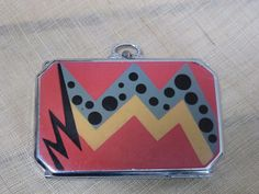 Very RARE E A M Deco Purse Compact Wonderful Graphics | eBay