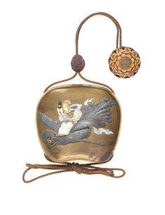 A GOLD-LACQUER AND SHIBAYAMA-INLAID SAYA (SHEATH) INRO Meiji era (1868-1912) Sold for £ 9,375 (US$ 13,202) inc. premium FINE JAPANESE ART.  12 May 2016.