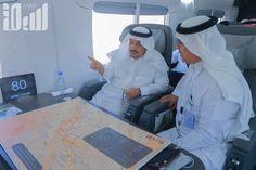 شاهد.. قطار الشمال ينطلقمعانقاً صحراء الرياض.. وأميرها يعلن الفرح