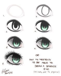 ★ step by step eye process (when drawing digitally or both...meh ) ★