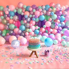 Smash Cake Girl, 1st Birthday Cake Smash, Wild One Birthday Party, Baby Girl 1st Birthday, 1st Birthday Parties, Balloon Arch Diy, Balloon Wall, Balloon Decorations, Balloon Backdrop