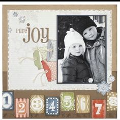 #ctmh - winter scrapbook one page layout