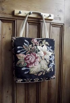womens bag tote purse tapestry carpet by DollyTopsyVintage, £20.00