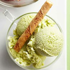I love Green Tea Ice Cream! What a great idea for St. Patrick's Day dessert.
