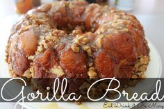 Gorilla Bread - like monkey bread but with cream cheese stuffed inside the biscuits - YUM!