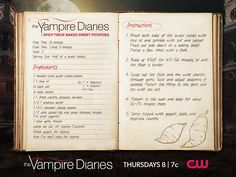 Yams with a side of blood? The perfect recipe for Fangsgiving. #TheYampireDiaries #TVD  Source: Rachel Oberg of de-ma-cuisine.com