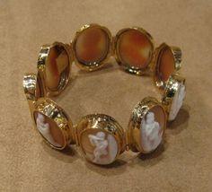 Bracelet romantique Or et camées