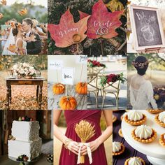 There's nothing like the charm of a fall wedding!