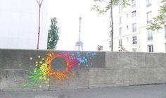 Street Art com origamis de Mademoiselle Maurice