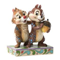 *CHIP N DALE ~ Enesco Disney Traditions by Jim Shore Chip and Dale Figurine, 4.5-Inch