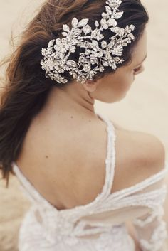 Model wearing Maria Elena Headpieces, Photos shoot feature in Love Stoned