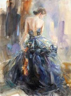 """""""Love Story 3"""" painting by Anna Razumovskaya."""