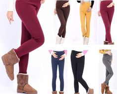 8b88c7d630645c Colorful Warm Maternity Leggings for Pregnant Women Fashion Cotton Pants  Autumn/Winter Plus Velvet Thicken Trousers