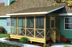 Family Home Plans Screened Porch Plan #90012