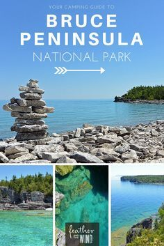 Tips for Camping at Bruce Peninsula National Park Your Guide to Camping at Bruce Peninsula National Park Congaree National Park, Everglades National Park, Rainier National Park, Banff National Park, National Park Camping, Bruce Peninsula, Lac Huron, Voyage Canada, Canada National Parks