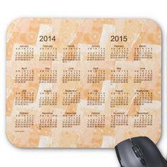 Peach Patchwork 2 Year 2014-2015 Calendar Mousepad Design from Calendars by Janz