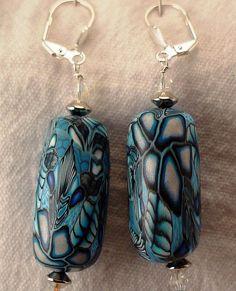Blue Polymer Earrings by hesshatcreek, via Flickr