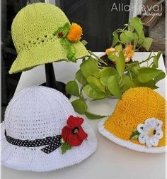 Wear a fabulous lacy garden party hat when you're working in the garden. This free crochet pattern is perfect to wear during the spring and summer months especially for Easter or a special occasion. Infant, child and adult sizes are included.