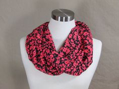 Hey, I found this really awesome Etsy listing at https://www.etsy.com/listing/228710002/infinity-scarf-in-pink-and-black