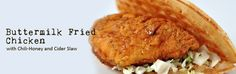 buttermilk fried chicken with slaw.