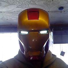 Iron man mark 6 helmet motorized #ironman#ironmancosplay #motorized#handmade#arduino#robotic #cosplay#косплей#своимируками#железныйчеловек#coolhelmets by alexironman_3