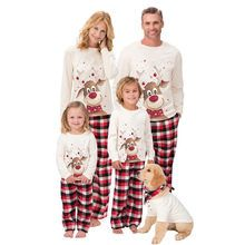 Cheap Offer of 2020 New Christmas Pajamas Set Family Matching Outfits Adult Kids Cute Party Pyjamas Cartoon Deer Print Sleepwear Suit in Gra. Family Christmas Pajamas Sets, Matching Christmas Pajamas, Matching Pajamas, Christmas Pajamas For Kids, Family Pjs, Christmas Pjs, Christmas Outfits, Pyjamas Assortis, Red Plaid Pants