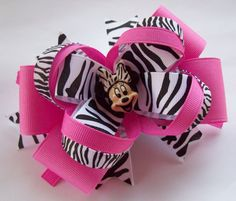 Zebra and Pink Minnie Mouse