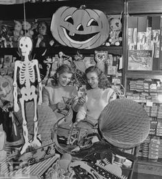Shopping for Halloween Party Supplies 1940's...would love to get back into that store now... 1940s