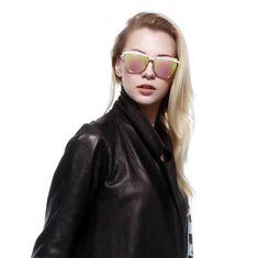 70191f2516  sunglasses AOOKO AK78102 Fashion Cat Eye Sunglasses Women Brand Designer  Metal Reflective Mirror uv400 Sun
