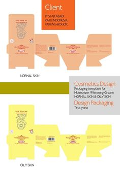 PACKAGING LAYOUT SARI MOISTURIZER COSMETICS SOFTWARE COREL DRAW X4