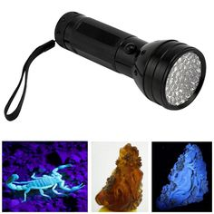 51 LED UV Ultra Violet Black Light LED Flashlight 3xAA