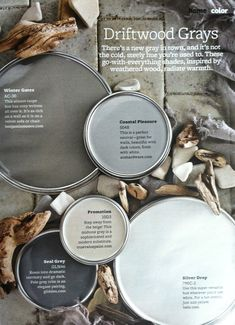 BHG Driftwood Grays - popular neutral gray paint colors to go with everything.
