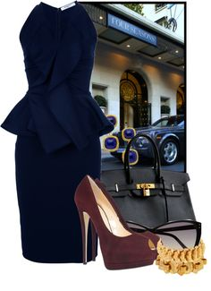 Lunch at The Four Seasons, created by ssquared on Polyvore