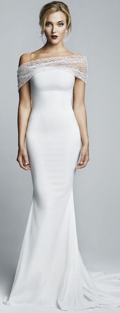 How amazing is this shoulder detail? Dress via Andy Prom