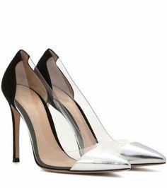 Plexi metallic leather and transparent pumps | Gianvito Rossi