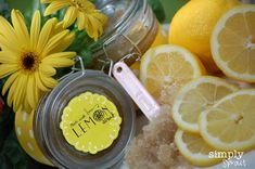 Mothers Day Gift Idea - We love the thought of a Mother's Day Spa at Home including Spa Water and Lemon Sugar Scrub