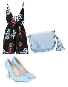 """Untitled #48"" by saniyachambers82 on Polyvore featuring Glamorous, JustFab and Kate Spade"