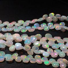 Ethopian Welo Opal Plain Heart Briolettes by gemsforjewels on Etsy