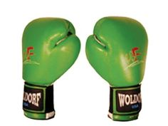 Boxing Bag Gloves in Vinyl 14oz GREEN by Worldorf USA. $17.99. w35c Boxing gloves Durable vinyl coated perfect for cardio kick boxing and bigger students, elastic velcro closure for better adjustment. note: this is the best gloves for begginers