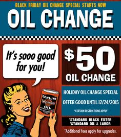 *Certain Restrictions Apply. Additional Fees Applicable on Upgrades. Valid on Standard Black Filter, Oil, and Labor. Valid at Harley-Davidson of Glendale, CA Only. Not Valid With Any Other Offer or Promotion. Valid Until 12/24/15. Contact (818) 246-5618 ext. 193 with any questions or comments.