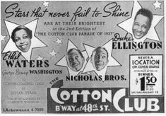 The Cotton Club was a New York City night club located first in the Harlem neighborhood and then in the midtown Theater District. Description from imgarcade.com. I searched for this on bing.com/images