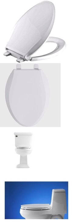 Toilet Seats 37637: Cachet Quiet-Close Elongated Closed Front White Toilet Seat,Grip-Tight Bumpers -> BUY IT NOW ONLY: $59.99 on eBay!